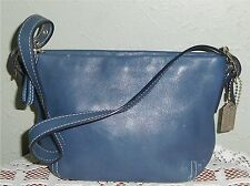 Cute Navy Authentic Mini Coach Leather Demi Baguette Bag Purse