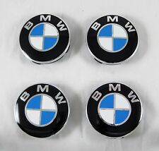 4 Pcs Set BMW Alloy Wheel Rims Center Centre Hub Caps 60/55 mm. Aluminum+ABS New