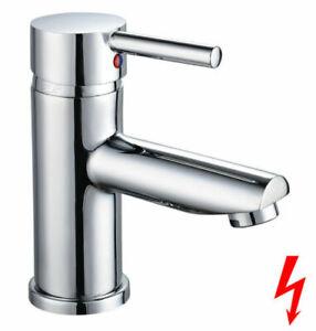 Waschtischbatterie Niederdruck Einhebelmischer Bad Armatur Wasserhahn Chrom