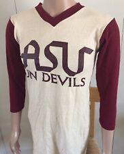 Vintage Arizona State Asu T-Shirt 3/4 Sleeve Small Sun Devils Ncaa Tempe