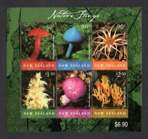 NEW ZEALAND FUNGI 2002 MINI SHEET OF FULL SET - ISSUE MINT NH ... LAST ONE !!