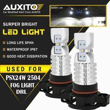 2X AUXITO 5202 PSX24W LED Fog Light Driving Bulbs Kit 6000K White 4M For Chevy