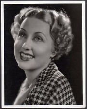 GENEVIEVE TOBIN Vintage Orig Photo by WELBOURNE w. stamp ACTRESS PORTRAIT