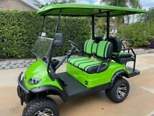 New listing 2020 Lime Green 4 Passenger Seat Icon Advanced Ev Golf Cart Super Low Miles