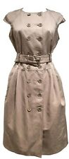 MICHAEL BY MICHAEL KORS BEIGE DOUBLE-BREASTED DRESS, 10, $395
