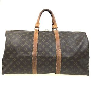 100% authentic Louis Vuitton Monogram Keepall  50 M41416 [Used]  {04-0256}