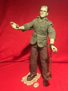 "Sideshow Universal Monsters 12"" POSEABLE FRAKENSTEIN CHANEY FIGURE *ADULT OWNED*"