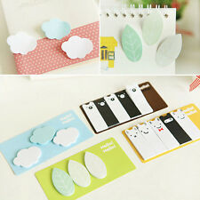 Cute Clouds Leaf Animal Forest Memo Pad Sticky Note Post Page Marker Planner
