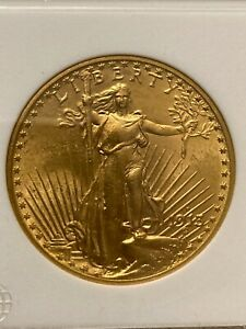 1913-D St. Gaudens $20 Gold Double Eagle in NGC MS62