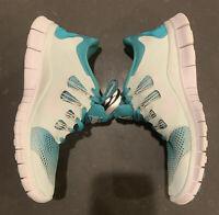 Nike - Free 5.0 - Women's 8.5 Aqua -White - 580601-313