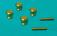 1:12 Scale Two Pair Of Brass Door Knobs Dolls House Miniature Building DIY 622