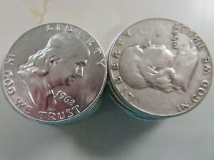 Roll ( 20 pieces) of the 90% Silver Franklin Half Dollars