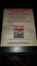 Village People San Francisco Rare Original Promo Poster Ad Framed!
