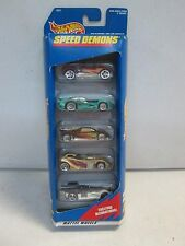 Hot Wheels 5 Car Gift Pack Speed Demons w gold racer
