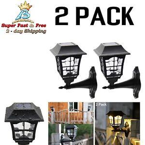 Lamparas Luces Exteriores Luz Solar De Pared Para Jardin LED Light Fixture 2 Pcs