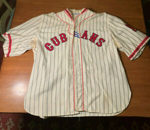 1940 NEW YORK CUBANS Home Jersey Ebbets Field Flannels XXL baseball Negro League