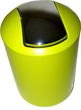 Stylish Small Plastic Lime Green Waste Bin 30cm x 19cm