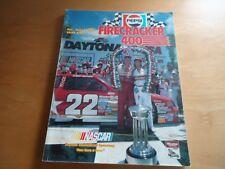 1988 PEPSI FIRECRACKER 400 DAYTONA 7/2/88 RACE PROGRAM WINNER BILL ELLIOTT