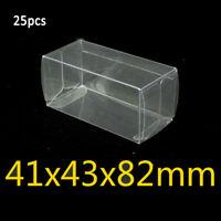 For Hotwheels Case Matchbox PVC 41*43*82mm 20/25/50pcs Protector Display Box