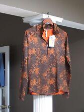UNDER ARMOUR Orange/Brown Women's Fitted Cold Gear Running SweatShirt Size L NWT