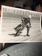 New listing Flat Track Harley Davidson Motorcycle Racing Motion Vintage 1970's Photo