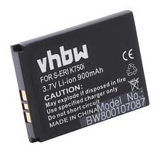 Akku für Sony-Ericsson W800c, W800i, W810, W810c, W810i 900mAh 3.7V Li-Ion