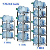 5 Gallon Water Jug Holder Water Bottle Storage Rack, 3/4/5 Tiers Black