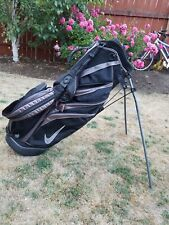 Nike 6-Way Stand Carry Lightweight Dual Revolving Strap Golf Bag, BLACK, EXC