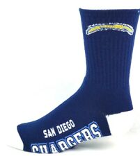 San Diego Chargers Football Navy & White Deuce Crew Socks