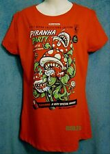Pyranha Party Red Fitted Womens XL Teefury Mario Bros Little Shop of Horrors NES