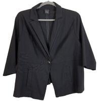 Torrid Black Pinstripe Blazer Jacket Womens Size 4X Career Work Business