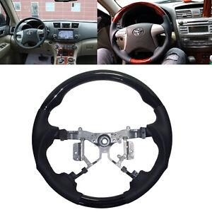 Black Leather Steering Wheel for 2007-2011 Toyota Camry Highlander Estima Kluger