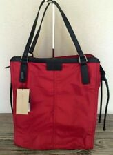 NEW BURBERRY BUCKLEIGH PACKABLE TOTE NYLON BAG HANDBAG PURSE RED