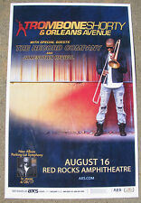 TROMBONE SHORTY & Orleans Avenue 2017 Red Rocks 11x17 Concert Flyer / Gig Poster