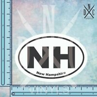 New Hampshire NH State Oval Euro Bumper Sticker Decal - Car Truck Auto Euro Oval