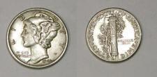 1943-D SILVER MERCURY DIME AUNC. INV#407-39a