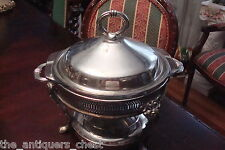 Elegant server glass silverplate casserole with warmer, made in Hong Kong[a4]