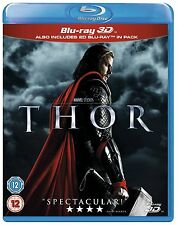 MARVEL'S THOR [Blu-ray 3D + 2D] Combo Pack 2-Disc Set First Movie Avengers