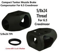 6.5 Creedmoor Ruger Mini Tanker Competition Muzzle Brake Compensator 5/8x24 TPI