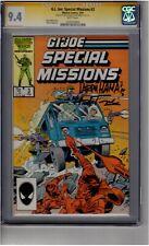(B2) G.I. Joe: Special Missions #3 CGC 9.4 Signature Series 2x Signed *Trimpe/Ha