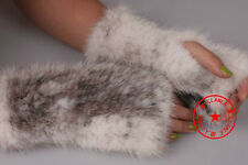 100% Real Genuine Knitted Mink Gloves Hand Warm Jacket Coat Women Fashion Winter