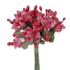 144 bunches Red Mini Flower Stamen Beads Buds Sugarcraft Cake Gift Box Decor