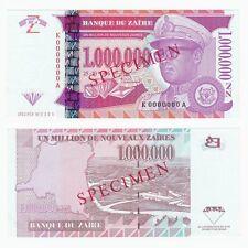 1996 ZAIRE 1,000,000 New Zaires *SPECIMEN* P79s - UNC.