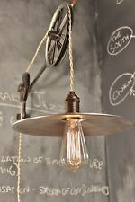 Vintage Industrial Pulley Lamp - The Draftsman Light