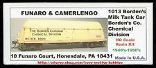 LMH Funaro F&C 1013 BORDEN'S BUTTERDISH MILK CHEMICAL Tank Car w/ EXPRESS TRUCKS