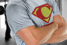 Crossfit Superman style Logo Workout Training Fitness Endurance Grey T-shirt