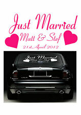 Just Married Car Sticker Vinyl Wedding Decal- Wedding accessories