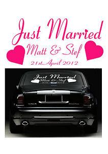Just Married Car Sticker Vinyl Wedding Decal- Wedding accessories