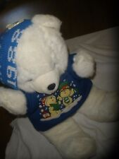 "18"" 1988 VINTAGE 1986 KMART CHRISTMAS TEDDY BEAR STUFFED ANIMAL PLUSH TOY SHIRT"