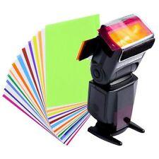 12 Colors Card for Strobist Flash Gel Color Filter Holder Diffuser Lighting